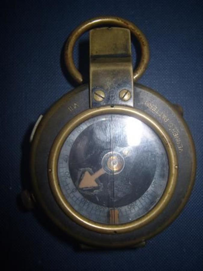 VERNERS PATTERN Mark VIII 1917 DATED BRITISH ARMY OFFICERS COMPASS