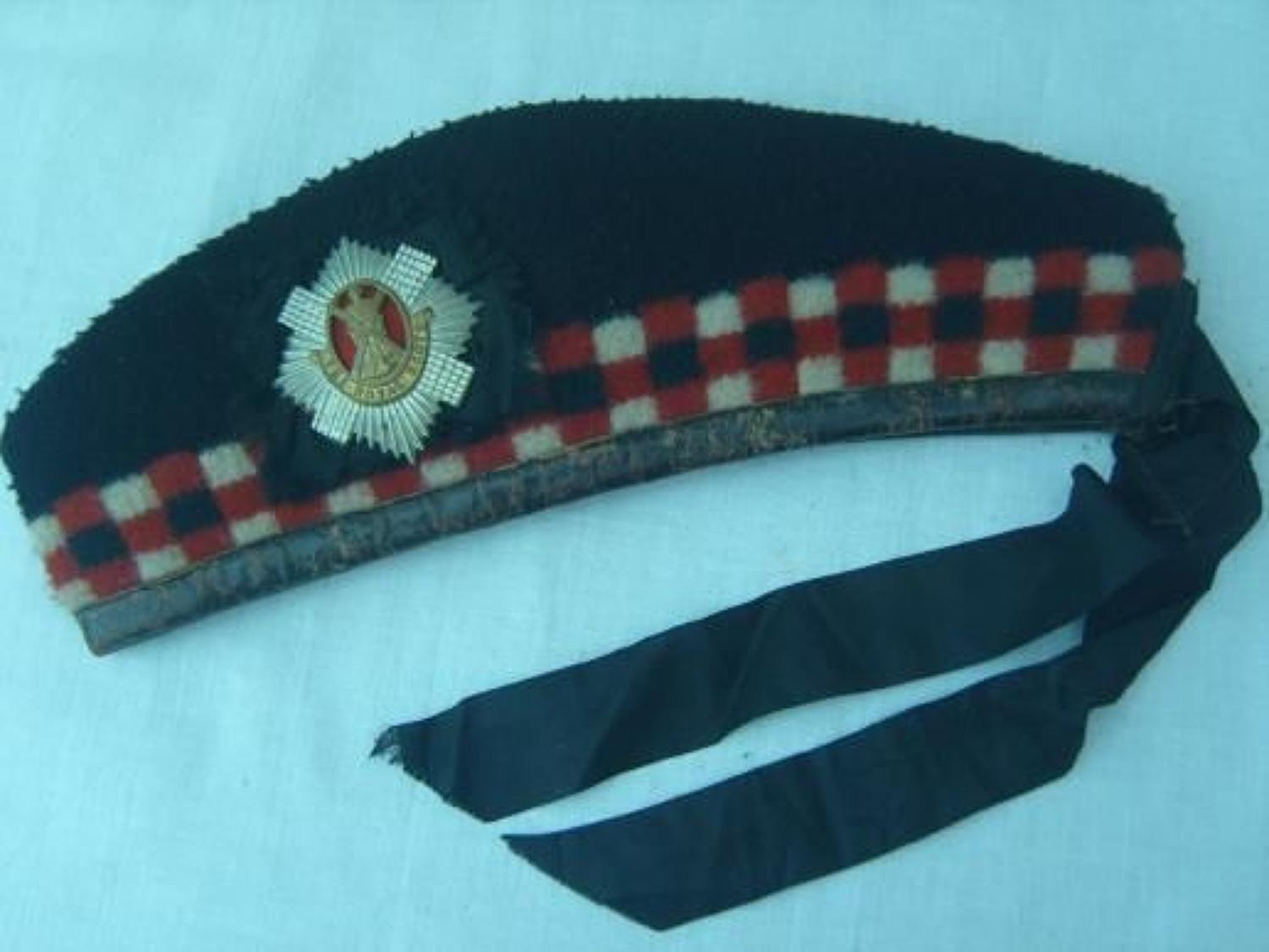 WW1 Leather Edged Royal Scots Glengarry.