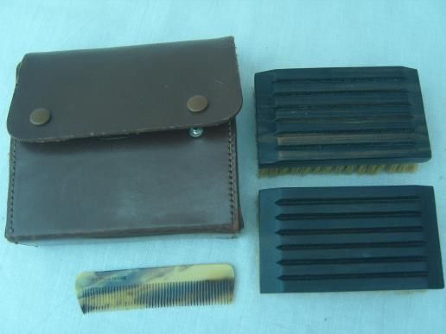 WW1 British Army Officers Brushes & Comb unused.