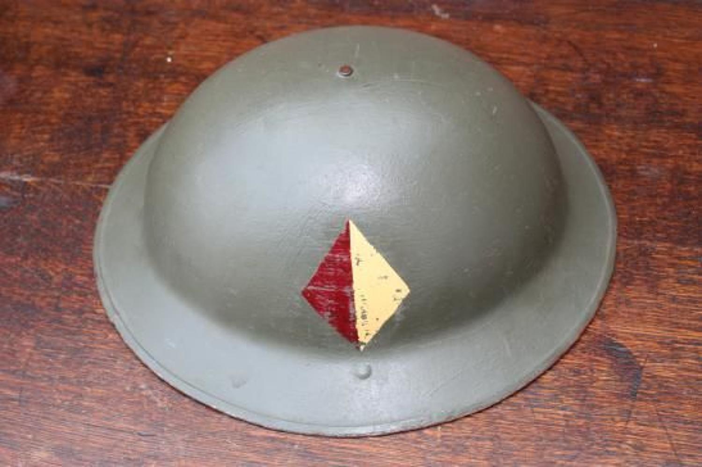 WW1 British Brodie Steel Helmet. Middlesex Regiment