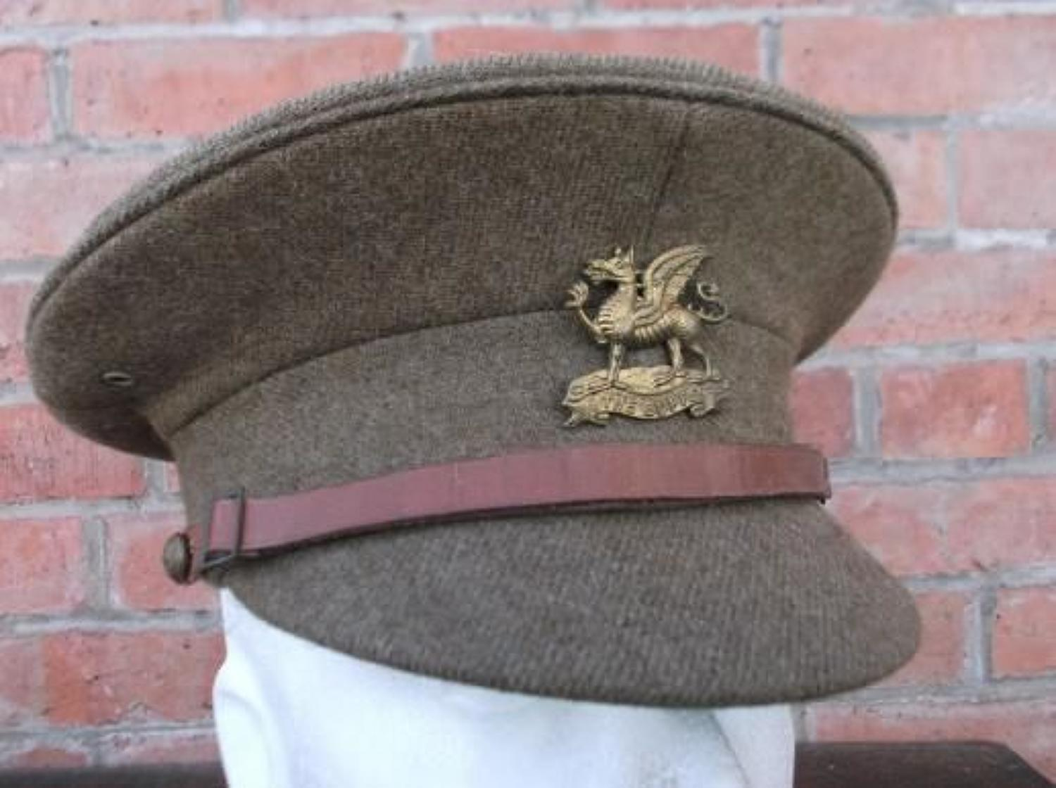 Late WW1 / Inter War British Other Ranks Khaki Service Dress Cap