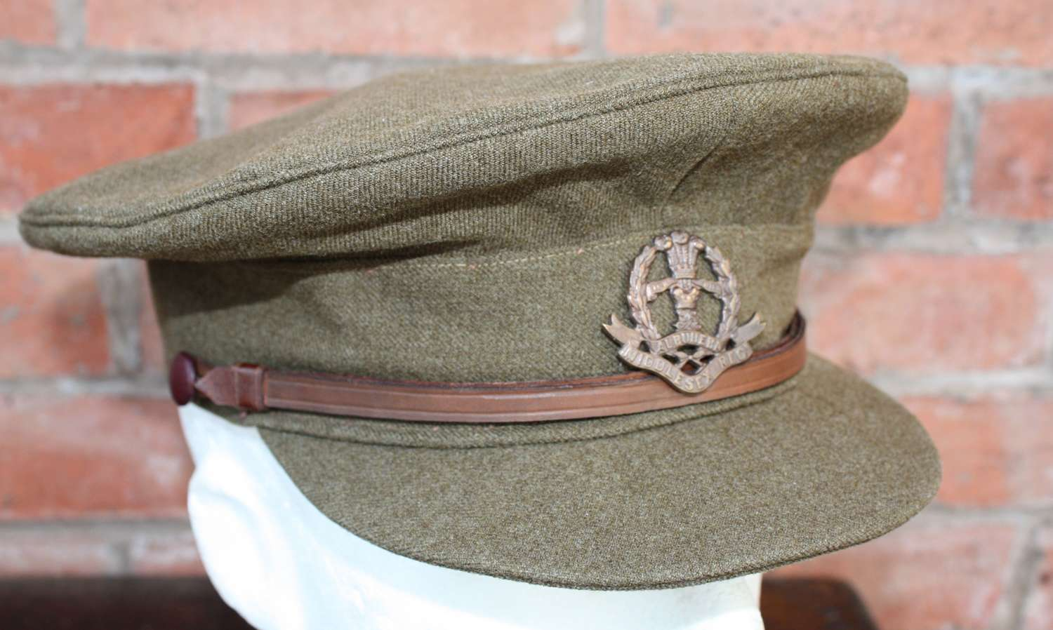 WW1 BRITISH ARMY OFFICERS KHAKI SERVICE DRESS CAP