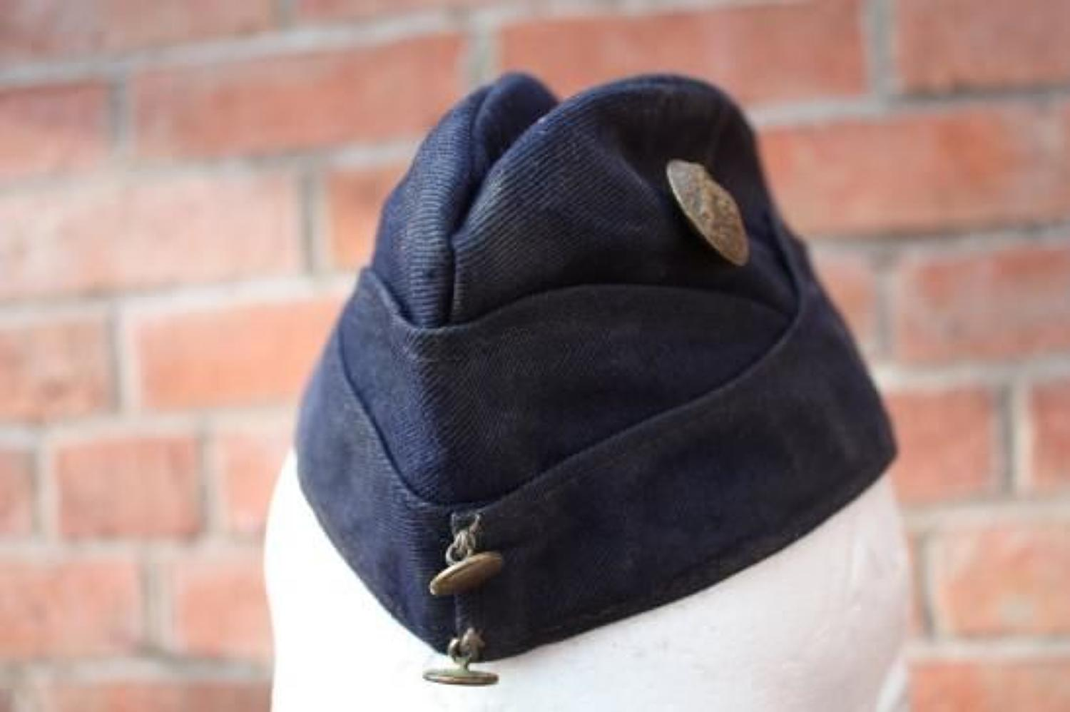 Kitchener Blue 1915 Dated Cotton Side Cap.