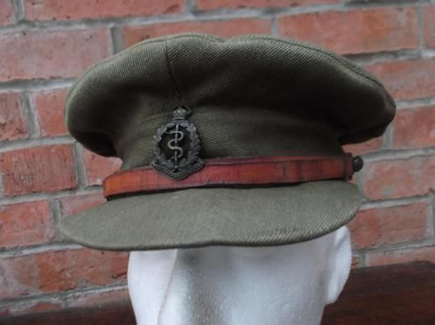 WW1 CASUALTY BRITISH OFFICERS FLOPPY STYLE KHAKI TRENCH CAP