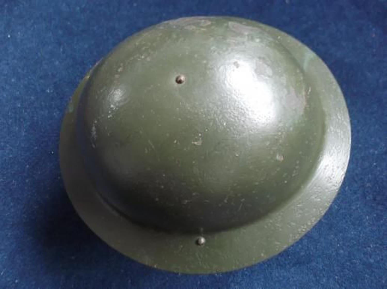 WW1 Early Rimless British Mark I Brodie Steel Helmet