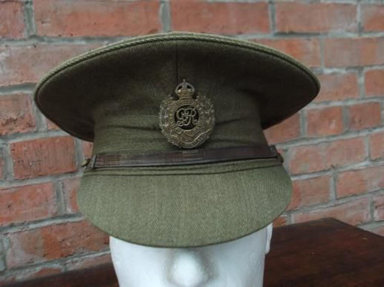 BRITISH WW1 OTHER RANKS KHAKI SERVICE DRESS CAP