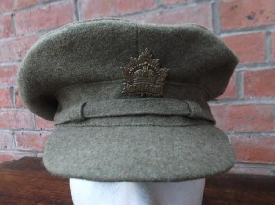 CANADIAN KHAKI WW1 OTHER RANKS SERVICE CAP