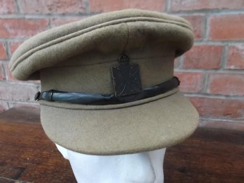 British Army Officers WW1 Moleskin Service Dress Cap