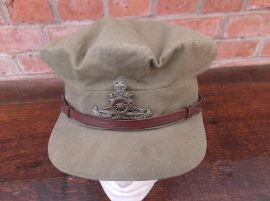 WW1 BRITISH OFFICERS FLOPPY STYLE KHAKI TRENCH CAP