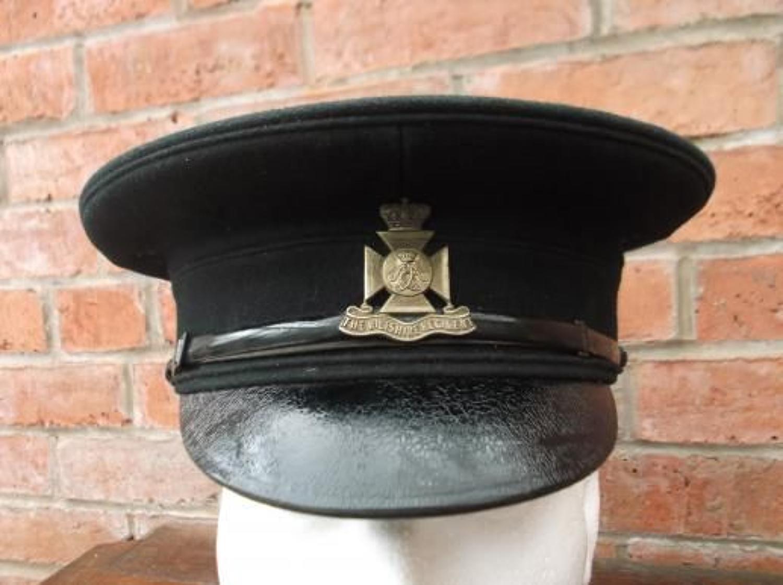 Pre WW1 Black Dress Cap to the Wiltshire Regiment.