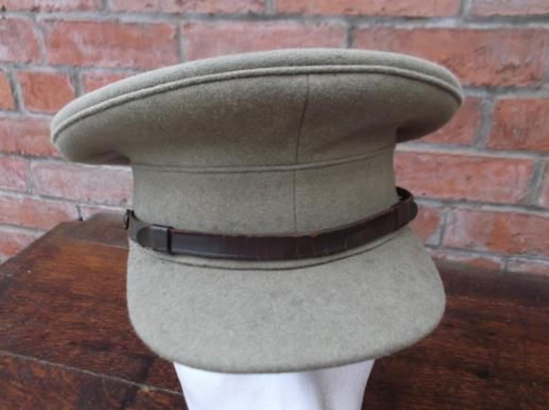 British Army Officers Moleskin Service Dress Cap