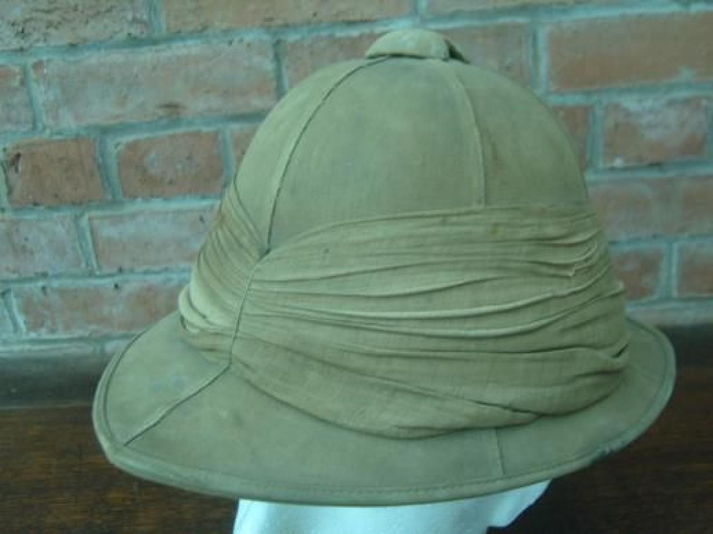 WW1 British Khaki Drill Pith Helmet