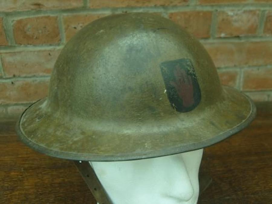 WW1 British Brodie Steel Helmet. 36th ULSTER DIVISION