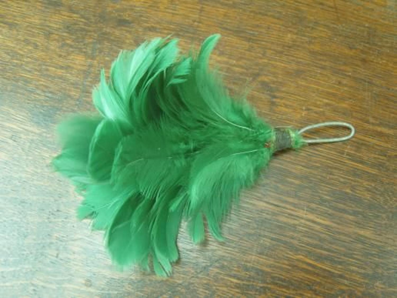 British Army green Tam or beret hackle