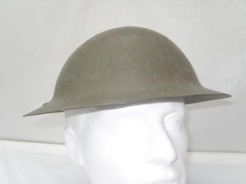 WW1 British Brodie Style Officers Private Purchase Steel Helmet.