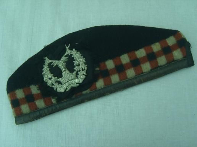 WW1 Leather edged Gordon Highlanders Glengarry