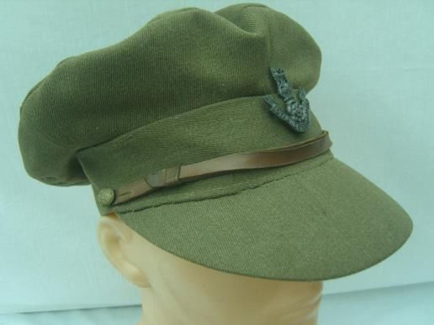 WW1 BRITISH OFFICERS FLOPPY STYLE TRENCH CAP DATED 1918