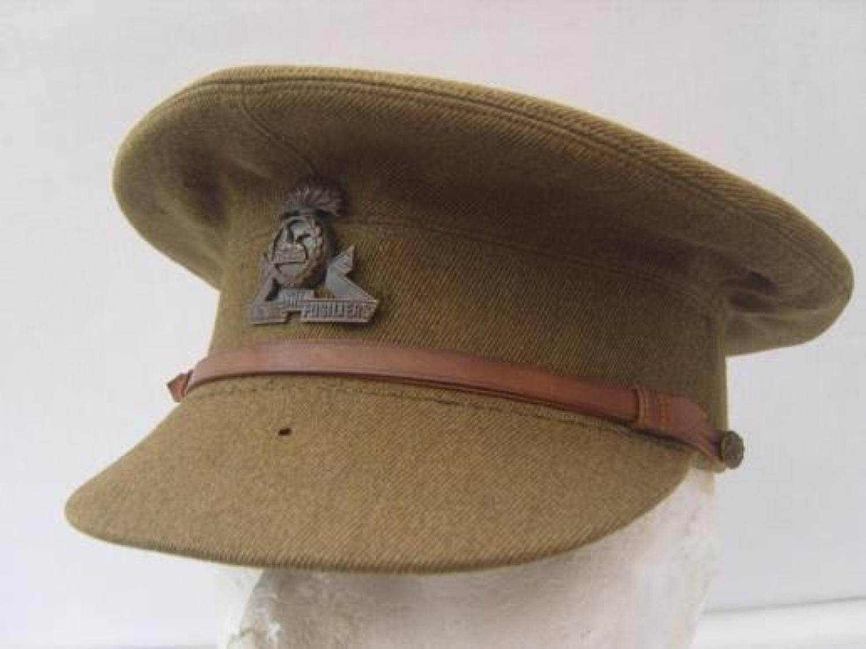 WW1 BRITISH ARMY OFFICERS KHAKI SERVICE DRESS CAP
