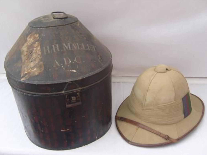 British Officers Post WW1 Pith Sun Helmet
