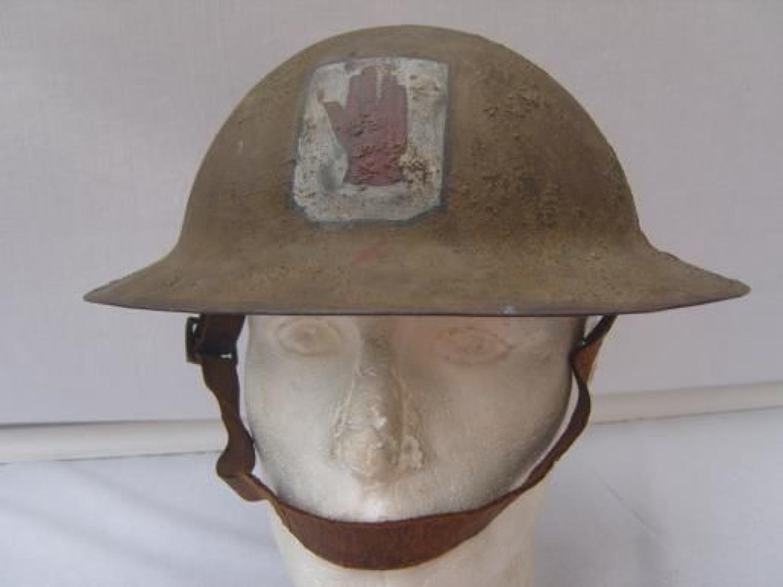 WW1 British Brodie Steel Helmet. 36th ULSTER DIVISION