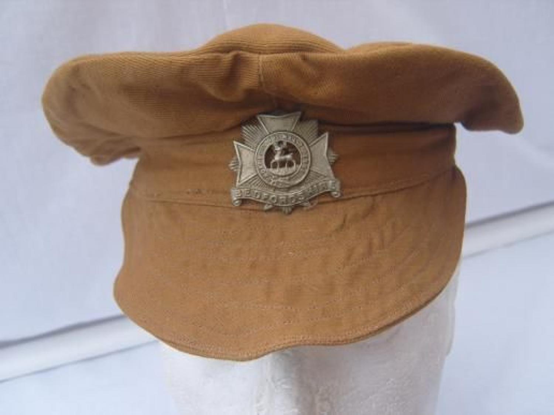 BRITISH ARMY WW1 KHAKI DRILL TRENCH CAP