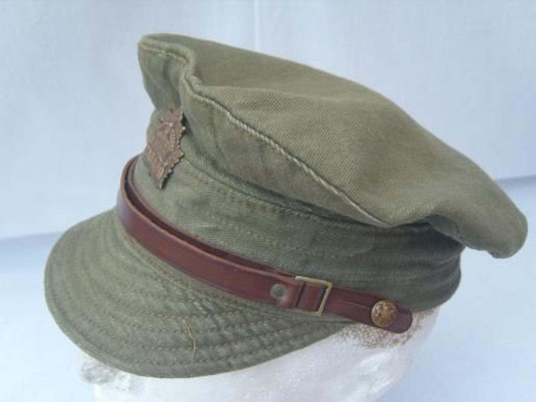 WW1 CANADIAN ARMY DENIM TRENCH CAP