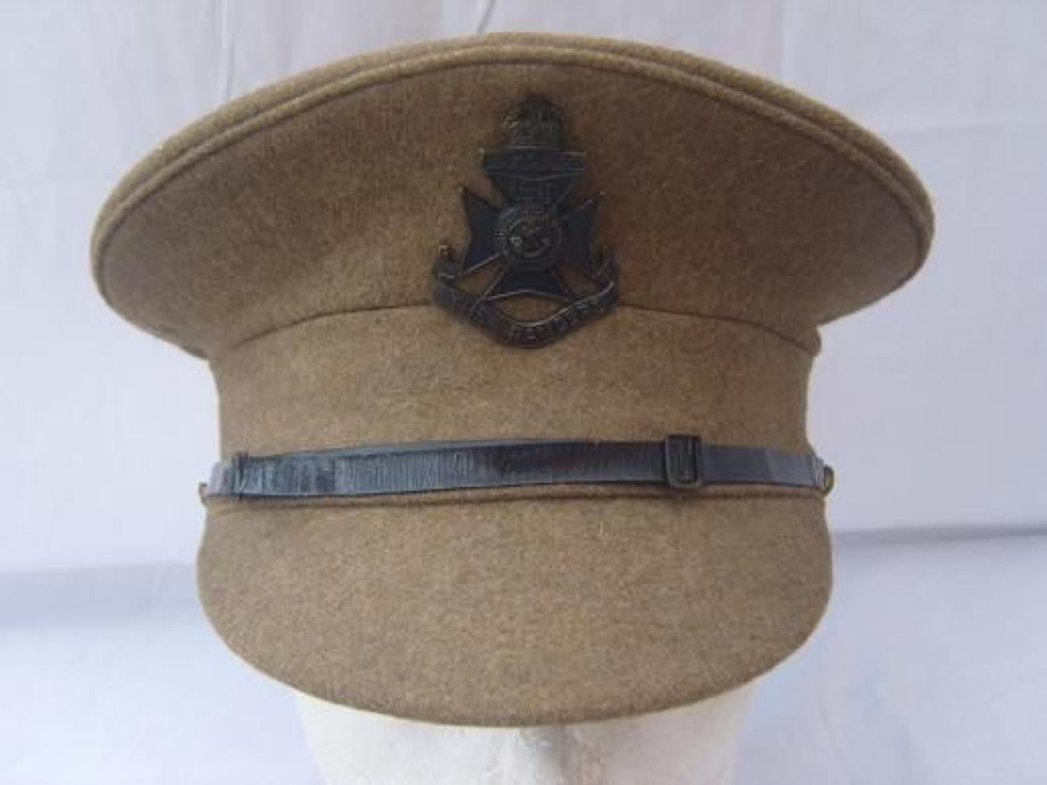 WW1 BRITISH RIFLES SERVICE DRESS CAP: THE RANGERS