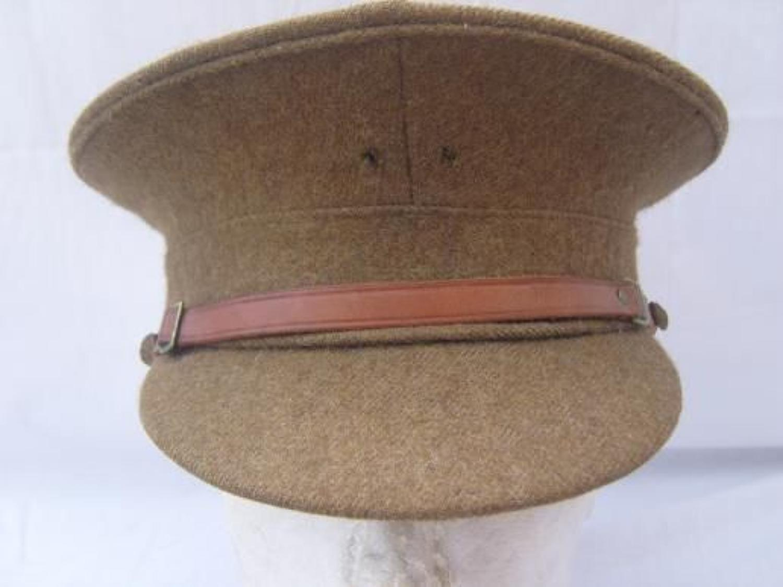 BRITISH KHAKI SERVICE DRESS CAP: PRIVATE PURCHASE