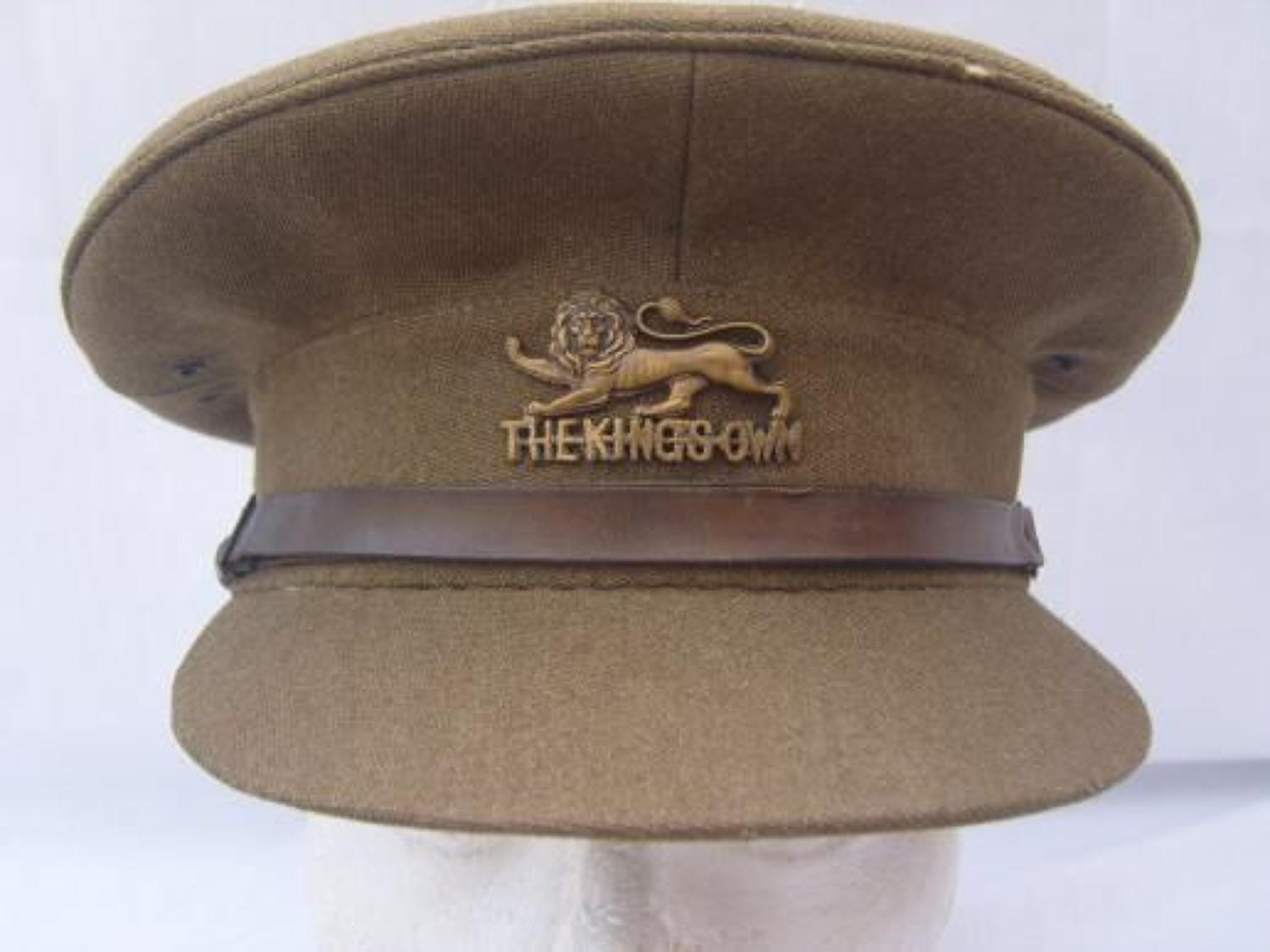 WW2 BRITISH OFFICERS CAP: THE KINGS OWN ROYAL LANCASTER