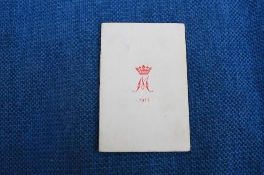 Original 1915 Princess Mary Gift Christmas card