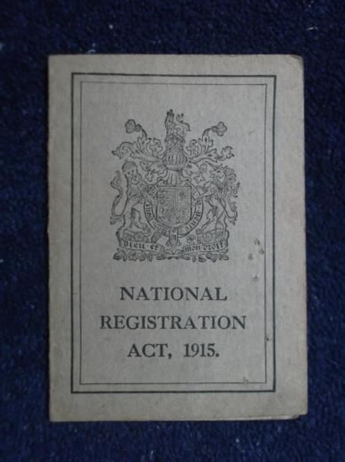 1915 National Registration Card : George Cox Coachman