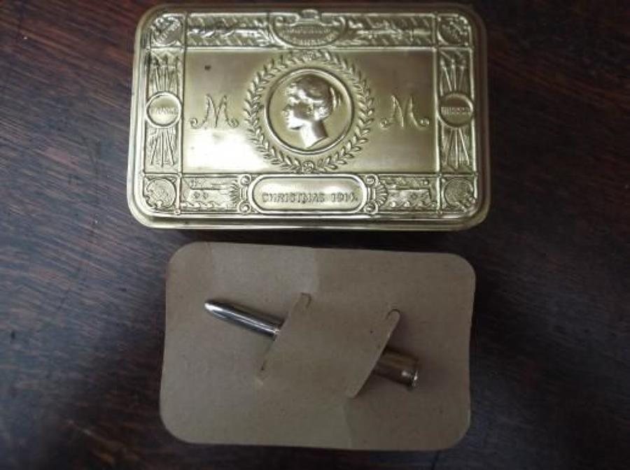 1914 Princess Mary Gift Tin ,Bullet Pencil 1914 & Card pencil holder