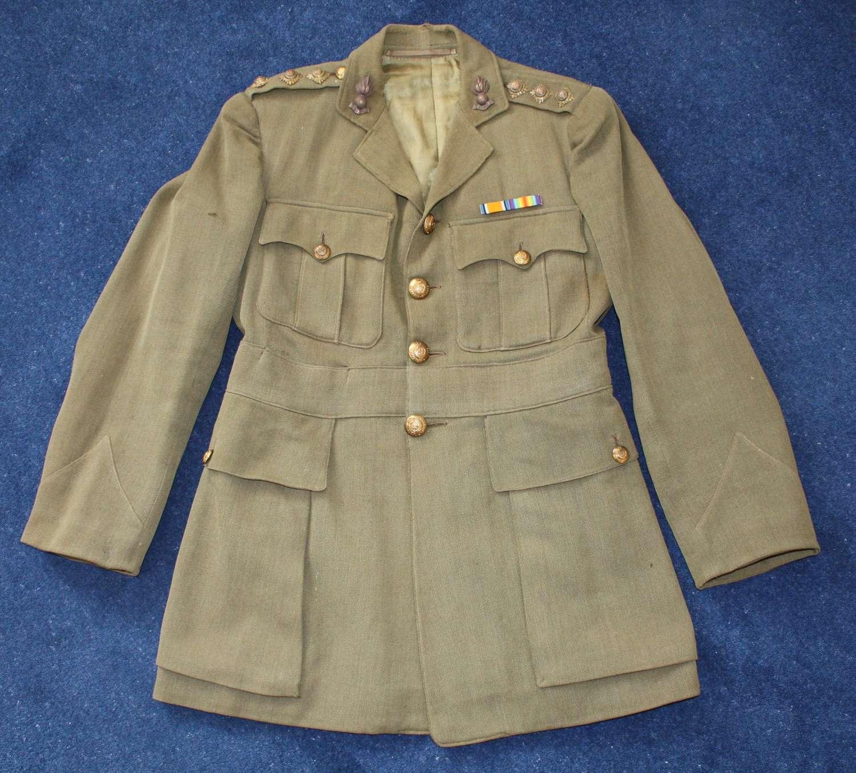 WW1 Royal Engineers, Captain's shoulder rank Officers Khaki Service Dr