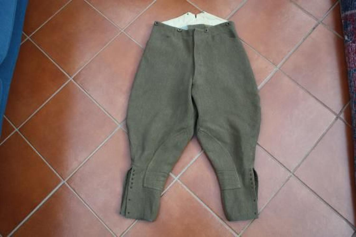 WW1 / WW2 BRITISH ARMY OFFICERS SERVICE DRESS BREECHES