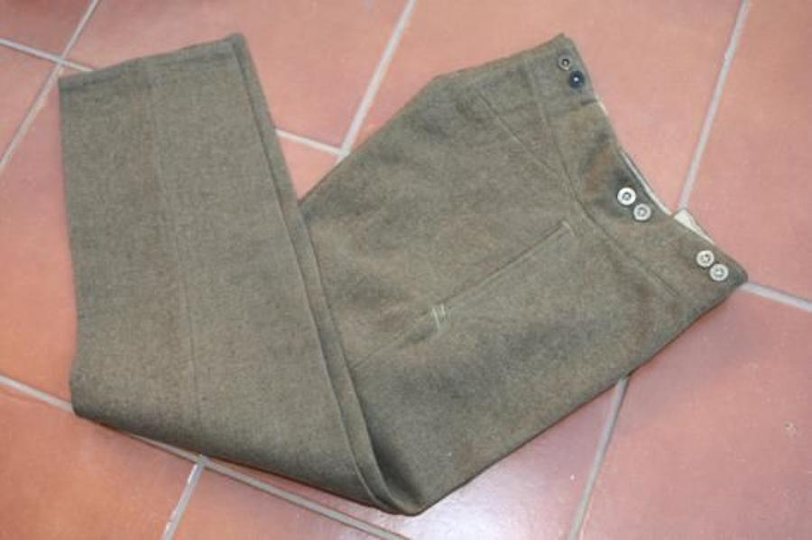 WW1 BRITISH ARMY 1902 PATTERN SERVICE DRESS TROUSERS