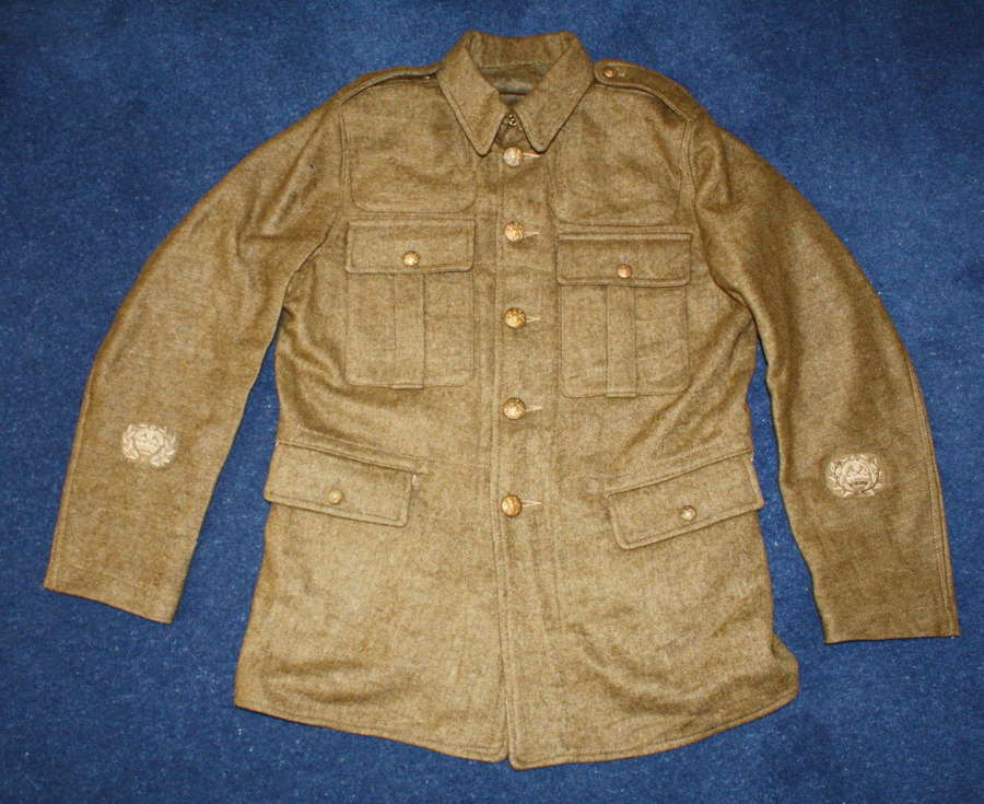 WW1 BRITISH OTHER RANKS 1902 PATTERN SERGE WOOL TUNIC