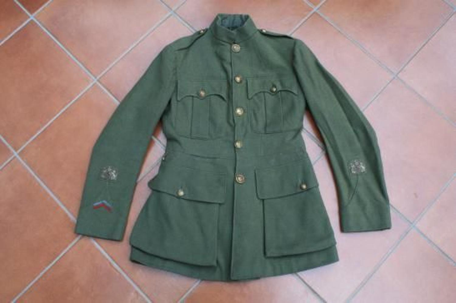 WW1 Royal Norfolk Regiment, CSM / RSM Warrant Officer's Khaki Service Dress Tunic
