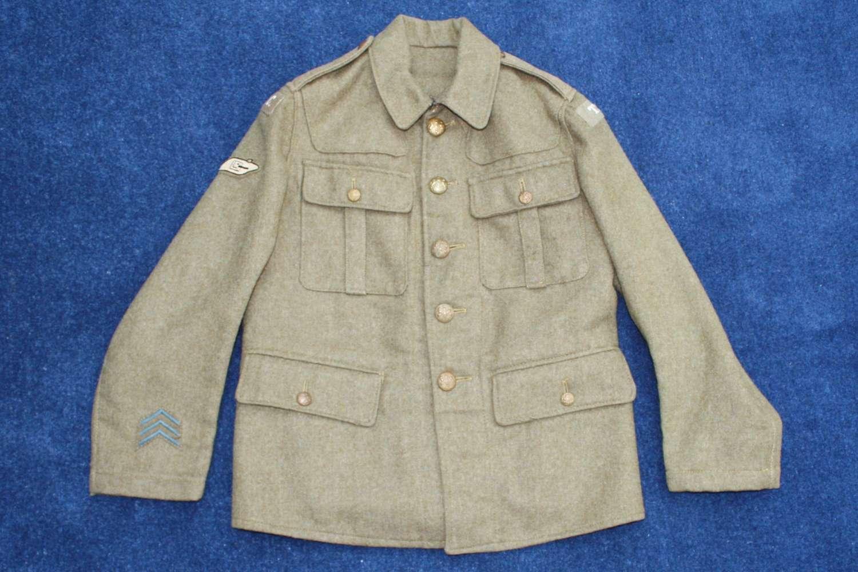 1902 PATTERN TANK CORPS BRITISH WW1 SERVICE DRESS TUNIC
