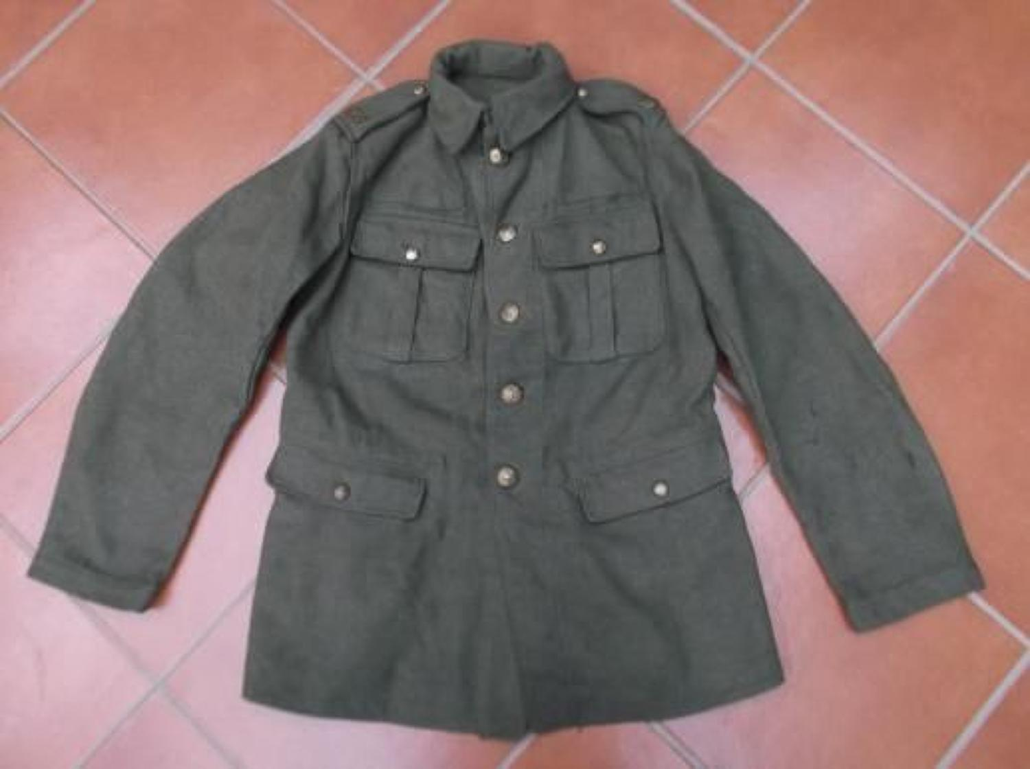 WW1 BRITISH OTHER RANKS TUNIC TO THE ROYAL FIELD ARTILLERY