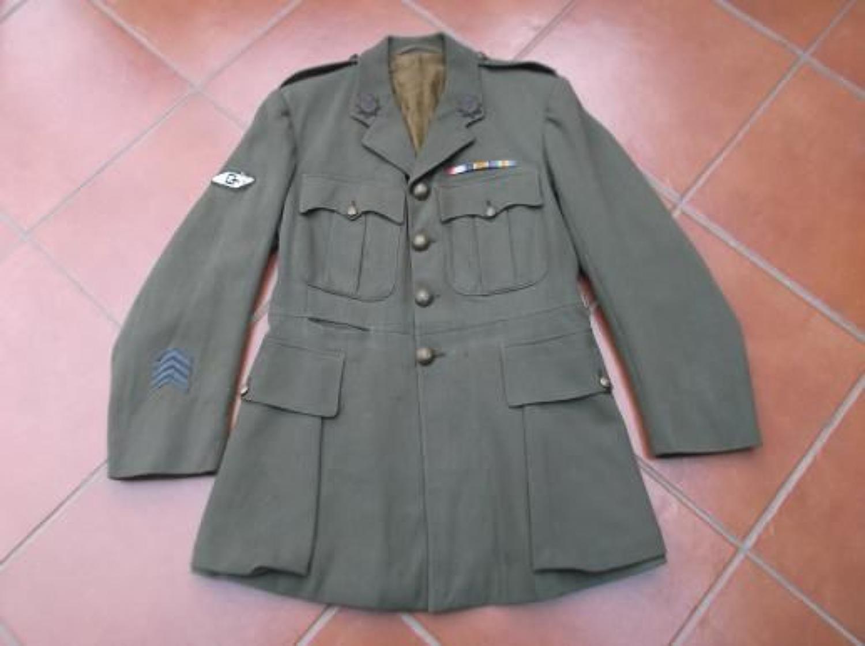 WW1 BRITISH OFFICERS TANK CORPS TUNIC.