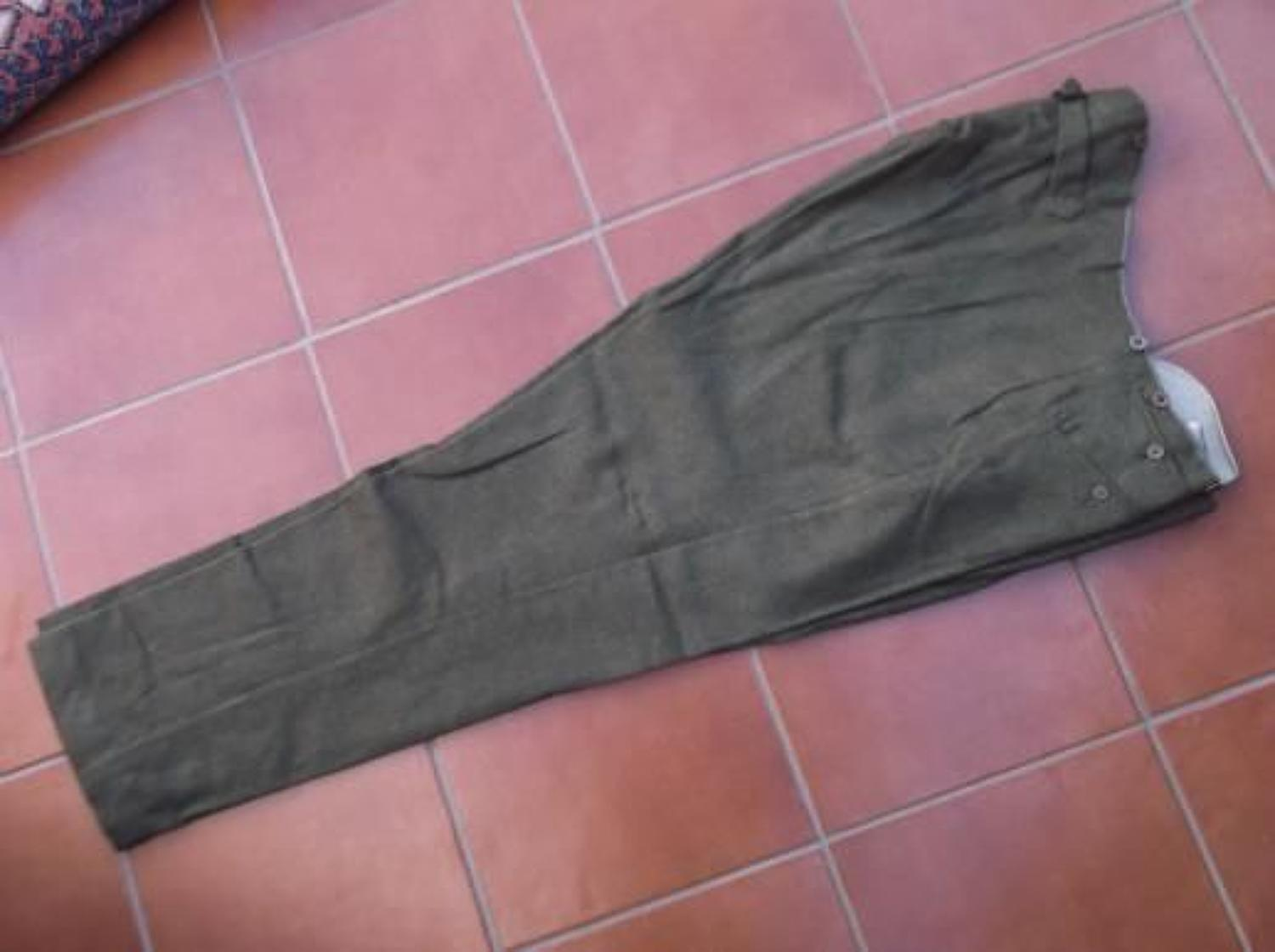 WW1 BRITISH ARMY OFFICERS SERVICE DRESS TROUSERS