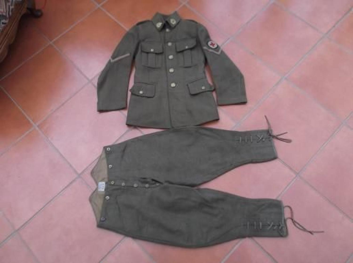 1907 PATTERN BRITISH SERVICE DRESS TUNIC & BREECHES: OFFICER CADET