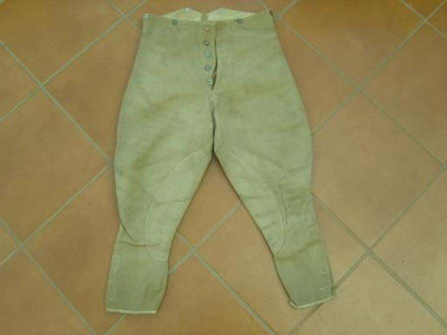 WW1 Khaki Bedford Cord Other Ranks Breeches.