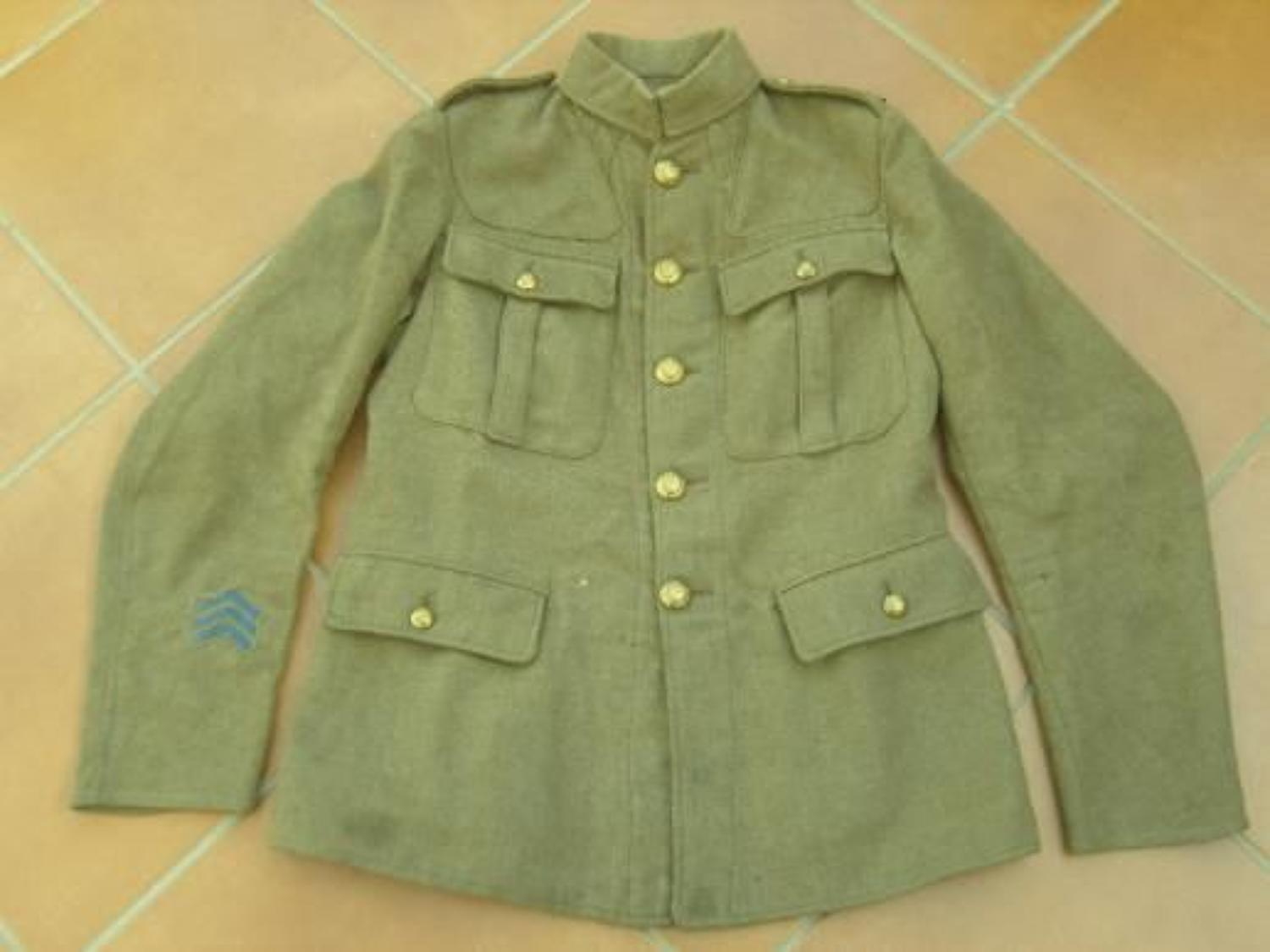 WW1 BRITISH OTHER RANKS TUNIC TO THE ROYAL ENGINEERS