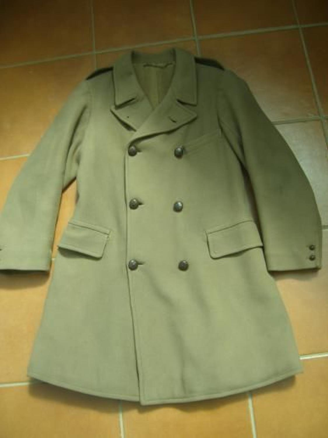 WW1 Officers 'British Warm' camel wool coat. Dated 1915.