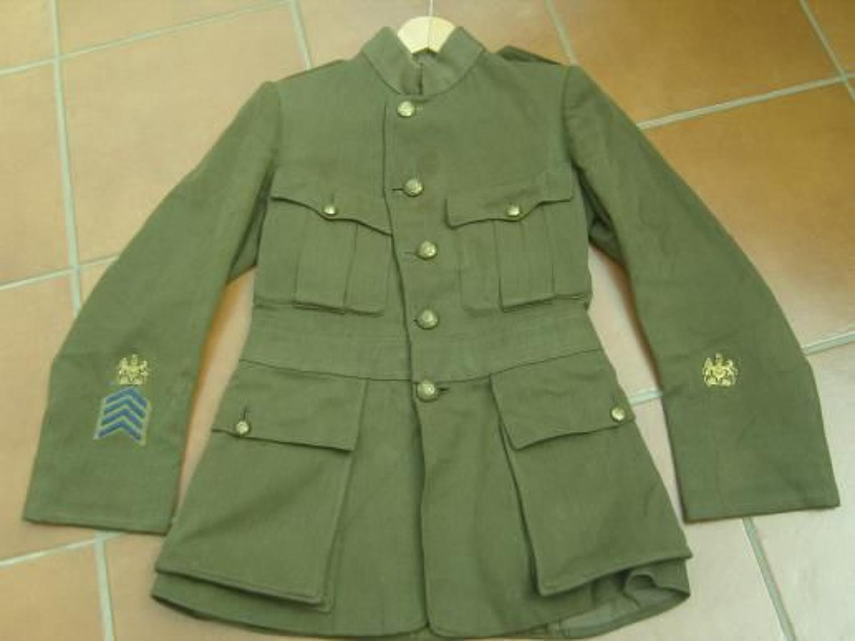 WW1 ASC Warrant Officers cuff rank tunic