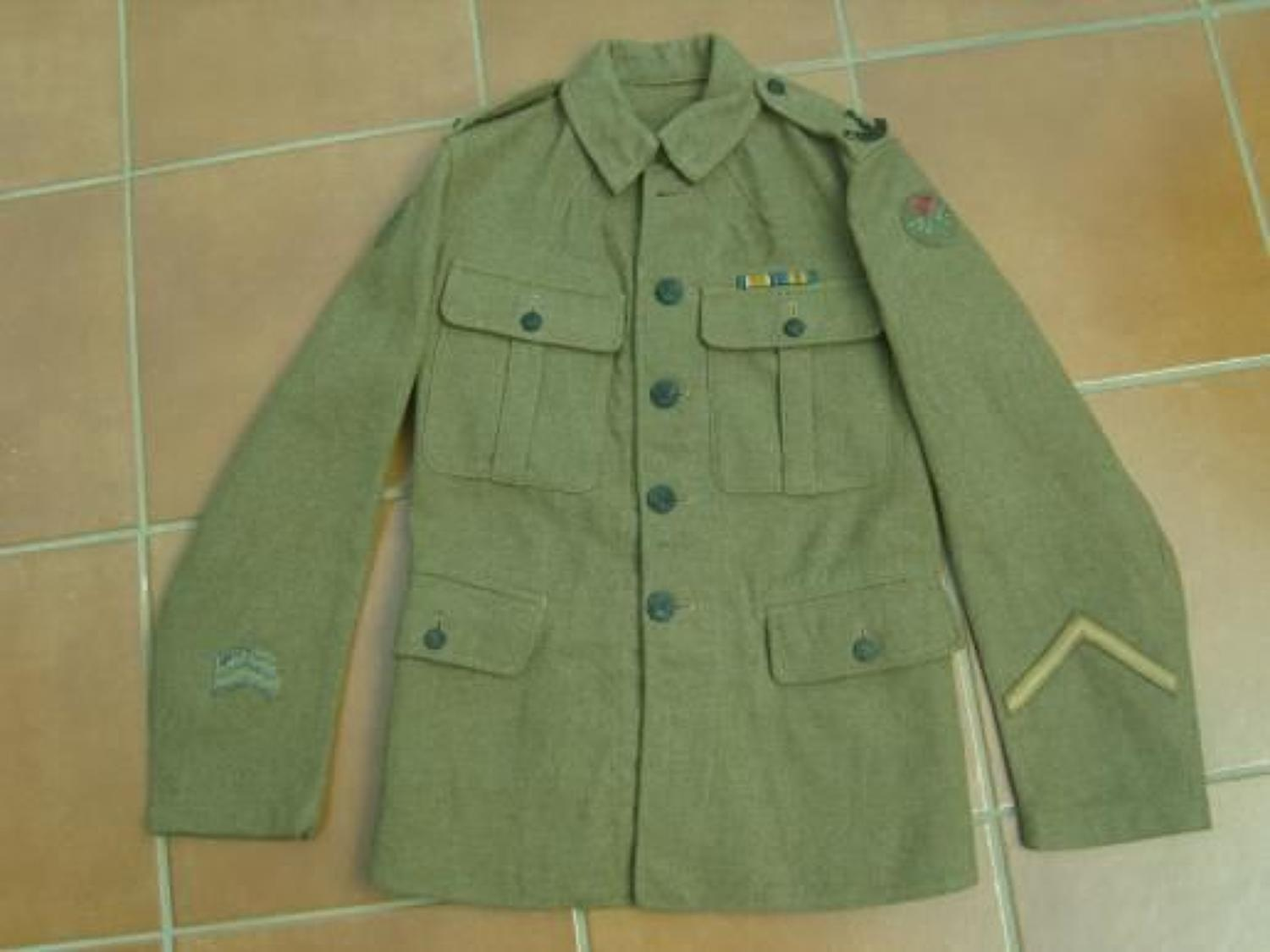 WW1 BRITISH OTHER RANKS TUNIC TO 1/5th SOUTH LANCASHIRE REGIMENT