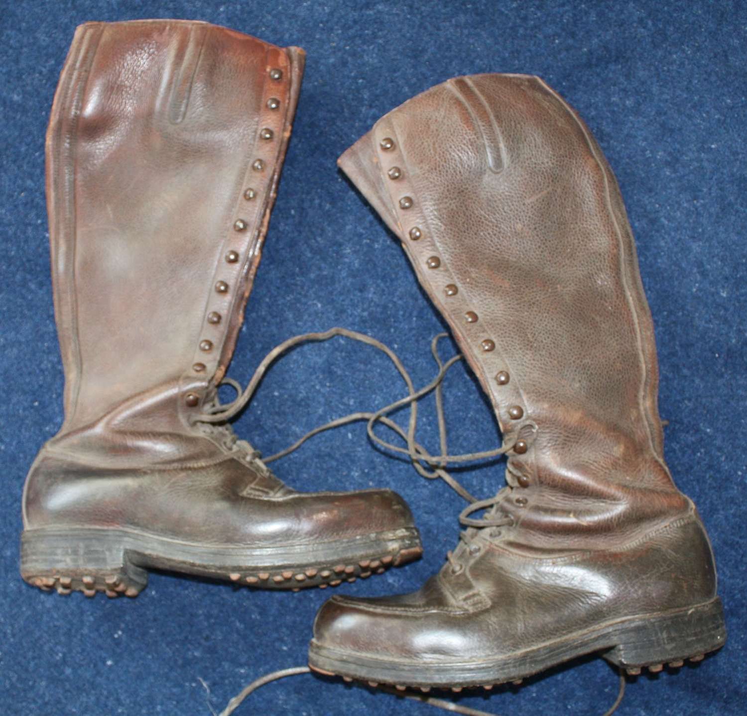 WW1 BRITISH ARMY OFFICERS LEATHER BOOTS