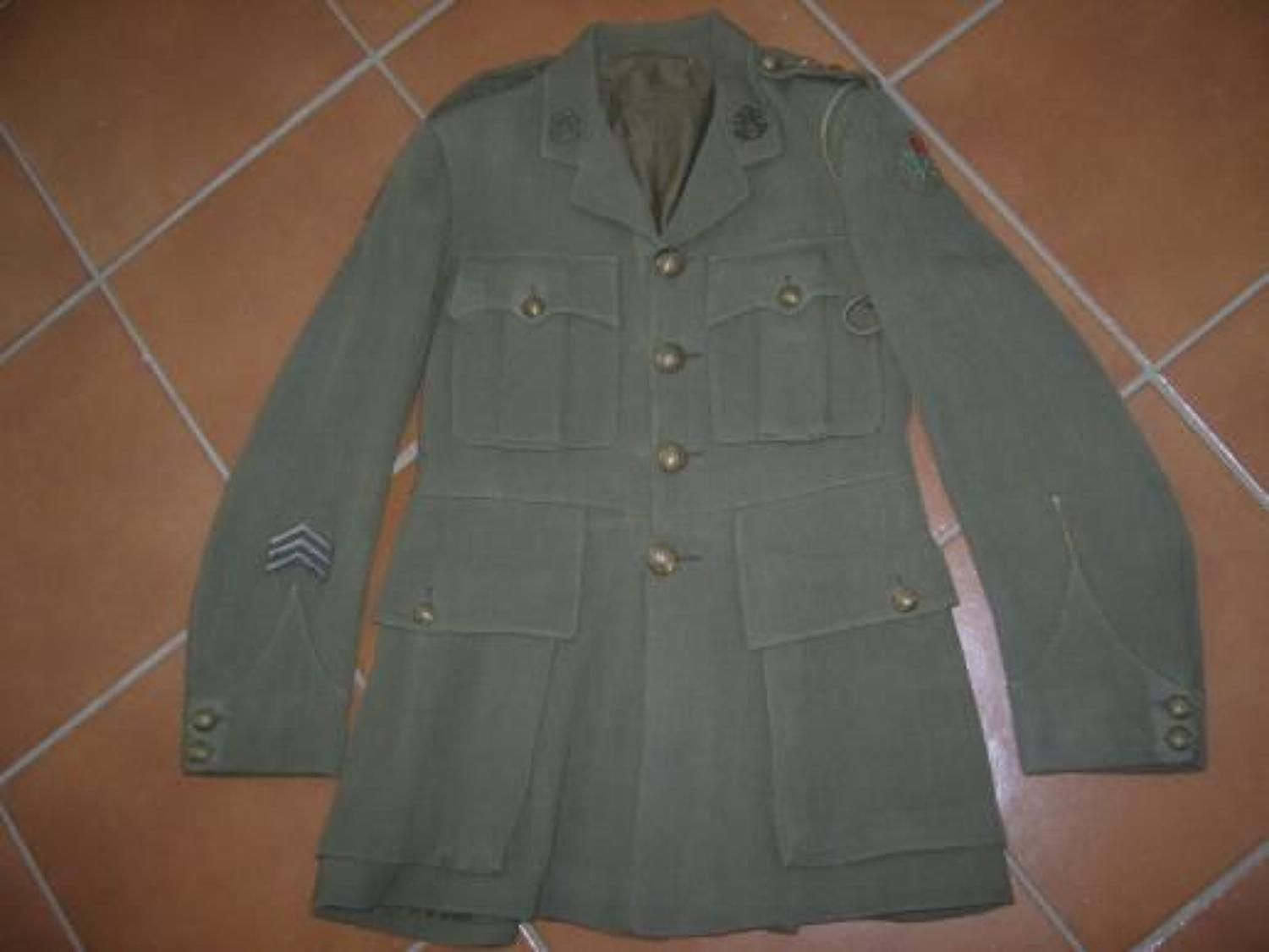 WW1 BRITISH OFFICERS TUNIC TO 1/5th SOUTH LANCASHIRE REGIMENT
