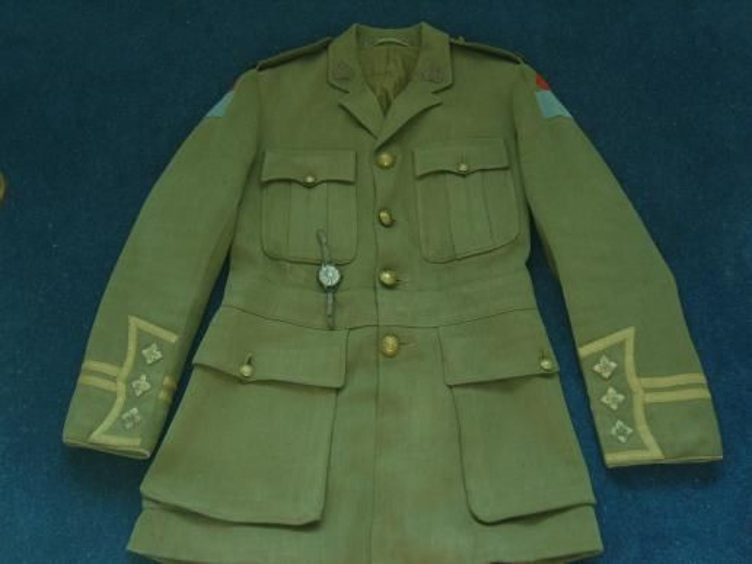 MORE PHOTOS: CANADIAN CUFF RANK TUNIC, CAP. HOLSTER, AMMO POUCH, BELT & WATCH